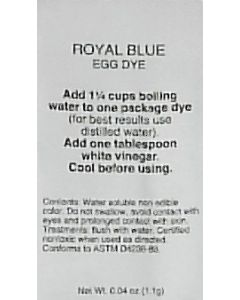 Royal Blue Dye