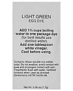 Light Green Dye