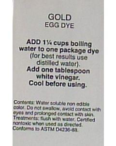 Gold Dye