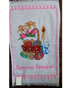 Embroidered Easter Basket Cover -20