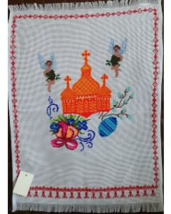 Embroidered Easter Basket Cover -21