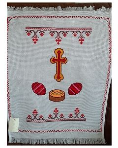 Embroidered Easter Basket Cover -22