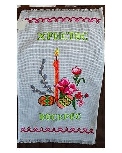 Embroidered Easter Basket Cover -17