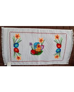 Embroidered Easter Basket Cover -07