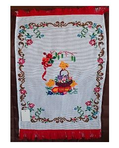 Embroidered Easter Basket Cover -05