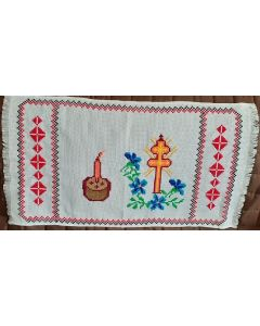 Embroidered Easter Basket Cover -02