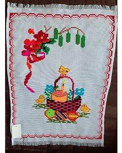 Embroidered Easter Basket Cover -03