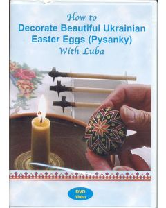 "HOW TO DECORATE BEAUTIFUL UKRAINIAN EASTER EGGS (DVD) DVD: ""20 MIN with Luba""  You will be shown how to select a proper egg, gather the necessary supplies, choose and create your design."