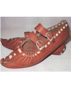 Hutzul style leather moccasins